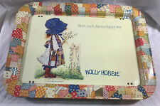 Vintage 1972 Holly Hobbie Metal Plegable TV Comida Bandeja Excelente B000#2