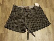 Hurley Women Shorts SZ 1 Gray Black NWT