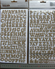 BURLAP Chipboard ERIC - 226 ALPHABET & NUMBERS 12-18mm High & 8-28mm Wide L4