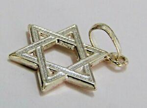 Étoile de David en argent sterling massif