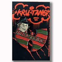 Freddy Krueger Enamel Pin KRU-TANG A Nightmare On Elm St Horror Pins Wu-Tang