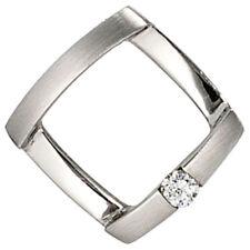 Damen Anhänger 950 Platin matt 1 Diamant Brillant 0,03ct. Platinanhänger