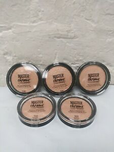 (5) Maybelline Master Chrome Metallic Highlighter 100 MOLTEN GOLD New
