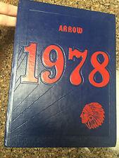 WISCONSIN DELLS HIGH SCHOOL YEAR BOOK ARROW 1978 SPIRIT OF 78 indian head