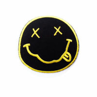 NIRVANA FACE LOGO Iron on / Sew on Patch Embroidered Badge Music Rock Band PT103