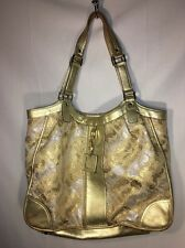 Gold & Silver L.A.M.B LAMB Gwen Stefani  Bag Purse Shopper Tote