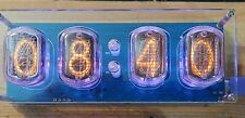 Nixie Clock 4 digit fully assembled with tubes and plexiglass case. USA shipped.