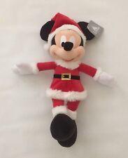 "BNWT Disney Parks Santa Mickey Mouse Christmas Holiday 15"" Plush Toy"