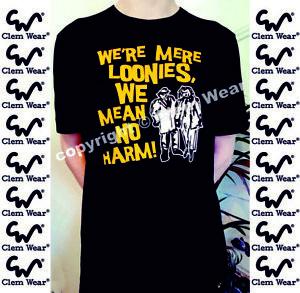 Bottom tee t shirt Rik Mayall WE'RE MERE LOONIES t-shirt funny Retro TV comedy