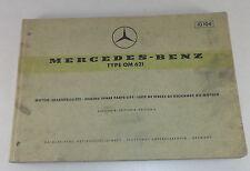 Teilekatalog Mercedes Benz Diesel Motor OM 621 Stand 07/1965