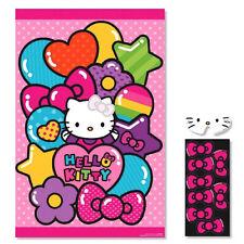 Hello Kitty Rainbow Poster 8 Player Birthday Party Game Set