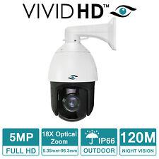 PTZ CCTV CAMERA 5MP VIVID HD 120M IR NIGHT VISION OUTDOOR DOME 18X ZOOM IP66 UK
