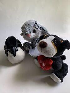 "Grey Bunny Rabbit 7"" Plush Stuffed Animal Unbranded With Friends Dog And Bird"