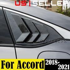For 2018-2021 Honda Accord JDM Carbon Fiber Side Vent Rear Window Quarter Louver