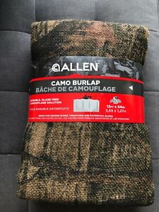 "ALLEN CAMO BURLAP - 12' x 54"" Duck Blinds Mossy Oak  - NEW"