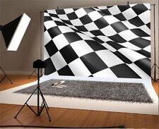 Checkered Flag Backdrops Vinyl 8x6Ft Photography Background Studio Props