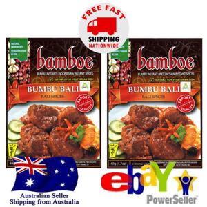 2x Bamboe Bumbu Bali Authentic Bali Instant Spices Paste Seasoning 49g Halal