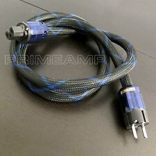 JAPAN Silver Plated Audiophile OFC 037E EURO Plug Power Cable Amplifier 1.5M UK