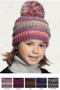 C.C Children Kid Girl Boy Multi Color Winter Warm Knit Beanie 2-6yr