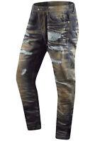 New Men Denim Rust Color Distressed Slim Fit Ripped Acid Wash Sizes 32-44