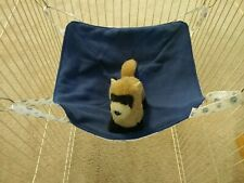 """Ferret Saucer Hammock - White with Tiny Blue Flowers - 14"""""""