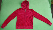 Juicy Couture pink hoodie for women with black logo size L will fit UK 10
