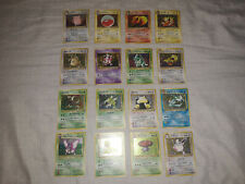 Pokemon Japanese Jungle Set 16 Holo Card COMPLETE Lot LP-HP Vaporeon Jolteon