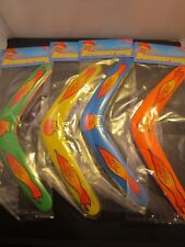 Kids 2 PACK Colorful Boomerang Lightweight  PLASTIC USA SELLER STOCKING STUFFER