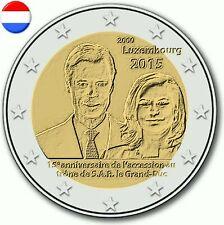 Rouleau de 25 pièces de 2 euros commémorative du Luxembourg 2015.