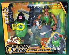 "Very Rare Original 12"" Inch  Action Man Kongo Mission  MIB Hasbro 2003"