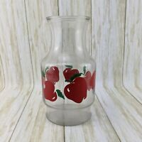 Vintage Anchor Hocking Apple Fruit Juice Glass Carafe Pitcher Decanter USA Made