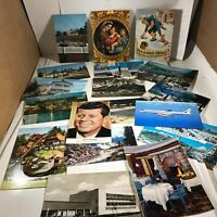 Lot of 18 Vintage Postcards World Traveler Post Marked