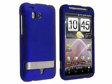 Hard Rubberized Case for HTC Thunderbolt - Blue