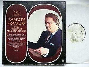 SAMSON FRANCOIS PLAYS RAVEL SOLO PIANO MUSIC SERAPHIM 6406
