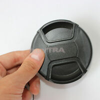 Firm 77mm Center Pinch Snap on Front Cover Cap For Camera Lens Filter hg