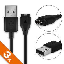 3x Cavo USB Dati per Garmin Approach S60 Forerunner 935 Filo ricarica nero
