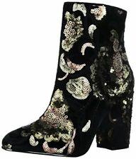 e52c040a6a49b Aldo Fiery Block Heel Ankle BOOTIES Black 5 US   35 EU