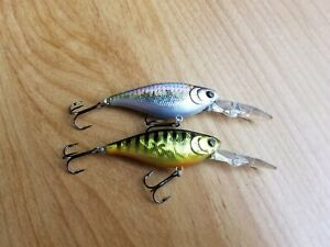 (2) Lucky Craft US Shad Crankbaits, Lot of 2 Fishing Lures