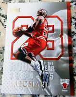 MICHAEL JORDAN Upper Deck Rookie Of The Year Card RC Bulls 6x Champion HOF MVP $