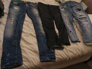 Las Mejores Ofertas En Pantalones De Mezclilla Azul Zara Para Hombres Ebay