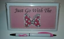 Minnie Mouse 'Just Go With The Bow' Checkbook Cover with Free Awareness Pen