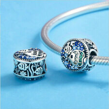 New 925 Sterling Silver Tropical Fish Ocean Life Blue Cz Charm For Bracelets uk