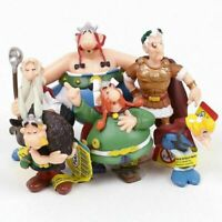 6pcs/set The Adventures Of Asterix Figures Cartoon PVC Cake Topper Kids Gifts