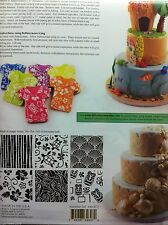 Autumn Carpenter Hawaiian 6 patterned texture sheets Sugarcraft Impression mats