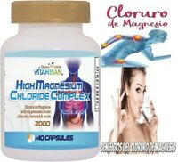Cloruro de Magnesio Magnesium Chloride High absorption 140 capsules extract pure