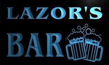 w024798-b LAZOR Name Home Bar Pub Beer Mugs Cheers Neon Light Sign