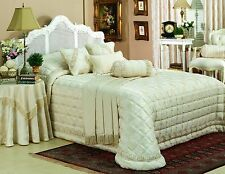 CREAM QUILTED JACQUARD  BEDSPREAD QUEEN SIZE WAS $650.00 NOW $275.00 MOTHERS DAY