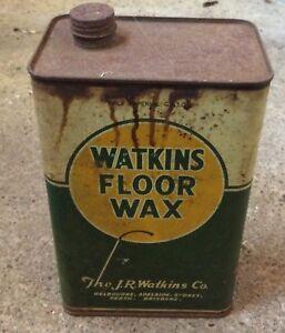 Watkins Floor Wax Tin
