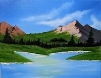 Mountain Range (Acrylic painting on Canvas)