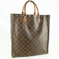 LOUIS VUITTON SAC PLAT Tote Bag Shopping Purse Monogram M51140 Brown
